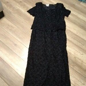 Patra Evening Gown 18w Black Beaded
